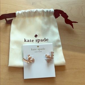 Kate Spade Chantilly Charm rose gold earrings